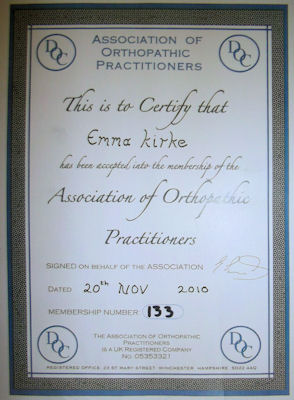Democratic Osteopathic Council certificate
